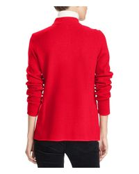 Lauren by Ralph Lauren - Red Cotton Officer's Jacket - Lyst