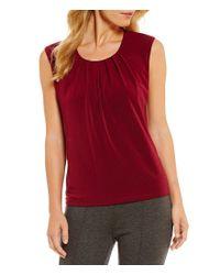 Kasper - Red Sleeveless Knit Top - Lyst