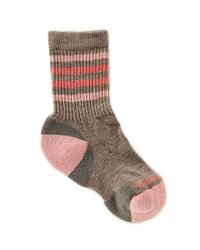 Smartwool - Brown Striped Hike Light Crew Socks - Lyst