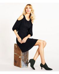Adrianna Papell | Black Hayes Stretch Booties | Lyst
