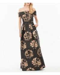 Nicole Miller - Black Off-the-shoulder Ball Gown - Lyst