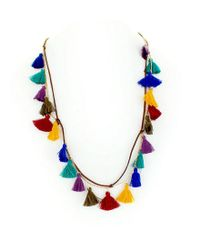 Panacea - Blue Spice World Boho Tassel Station Necklace - Lyst