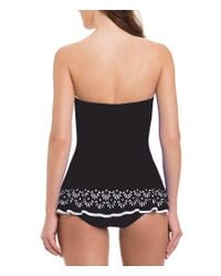 Gottex - Black Tutti Frutti Bandeau Laser-cut Tummy Control One-piece Swimdress - Lyst