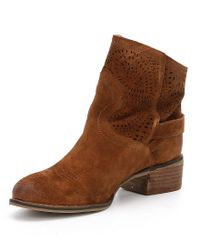Naughty Monkey - Brown Zoey Perforated Booties - Lyst
