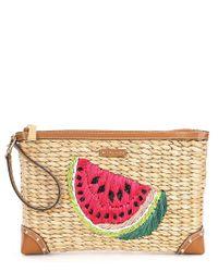 MICHAEL Michael Kors - Multicolor Malibu Watermelon Zip Clutch - Lyst