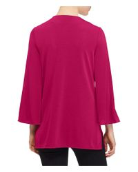 Lauren by Ralph Lauren - Red Bell-sleeve Jersey Tunic - Lyst