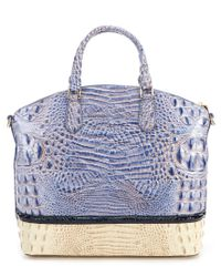 Brahmin - Blue La Paz Collection Large Duxbury Colorblock Satchel - Lyst