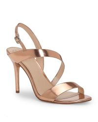 Vince Camuto - Costina Metallic Leather Strappy Dress Sandals - Lyst
