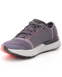Under Armour - Gray Ladies Speedform Gemini 3 Lace Up Running Shoes - Lyst