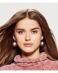 Lucky Brand - Metallic Jade Sunburst Drop Earrings - Lyst