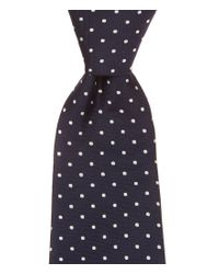 Brooks Brothers - Blue Dotted Silk Tie for Men - Lyst
