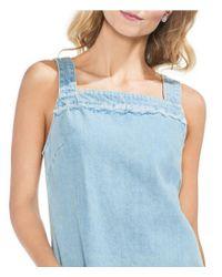 Vince Camuto - Blue Chambray Patch Pocket Sheath Dress - Lyst