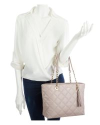 Kate Spade - Gray Emerson Place Small Priya Tasseled Quilted Tote - Lyst