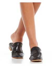 Free People - At Ease Metallic Leather Dress Mules - Lyst