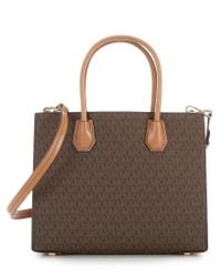 MICHAEL Michael Kors - Brown Studio Mercer Studded Convertible Tote - Lyst