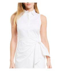 Antonio Melani - White Willow Poplin Wrap Dress - Lyst