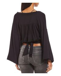 Free People - Black That's A Wrap Solid Top - Lyst