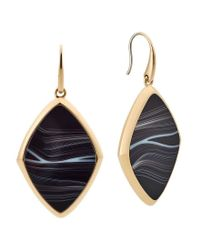 Michael Kors - Metallic Cool & Classic Agate Drop Earrings - Lyst