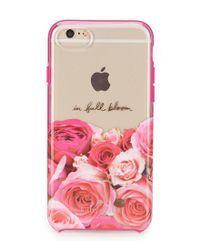 Kate Spade - Pink In Full Bloom Floral Iphone 7 Case - Lyst