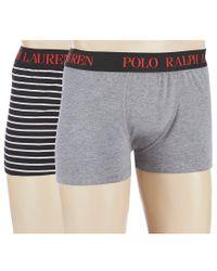 Polo Ralph Lauren - Gray Cotton Comfort Blend Trunks 2-pack for Men - Lyst