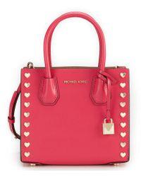 MICHAEL Michael Kors Black Studio Mercer Heart-stud Cross-body Bag