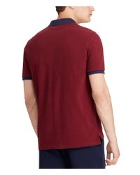 Polo Ralph Lauren - Red Striped Chevron Short-sleeve Polo Shirt for Men - Lyst