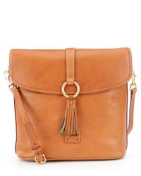 Dooney & Bourke - Brown Florentine Collection Large Dottie Tasseled Cross-body Bag - Lyst