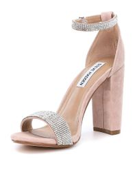 Steve Madden - Multicolor Carrson Suede Rhinestone Dress Sandals - Lyst