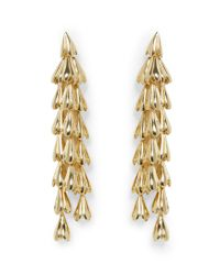 Vince Camuto - Metallic Goldtone Waterfall Statement Earrings - Lyst