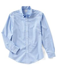 Brooks Brothers - Blue Non-iron Regent-fit Solid Long-sleeve Woven Shirt - Lyst