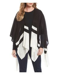 Lauren by Ralph Lauren | Black Zara Striped Ruana | Lyst