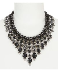 Carolee - Black Midnight Tower Beaded Cascade Statement Necklace - Lyst