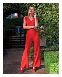 Antonio Melani - Red Tina Flutter Sleeve Jumpsuit - Lyst