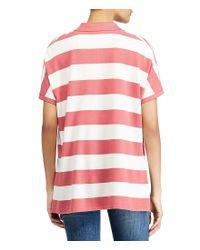 Polo Ralph Lauren - Red Stripe Poncho Mesh Polo Shirt - Lyst