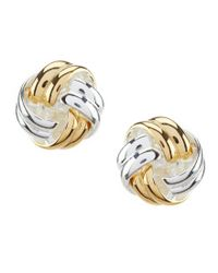 Argento Vivo - Metallic Knot Stud Earrings - Lyst