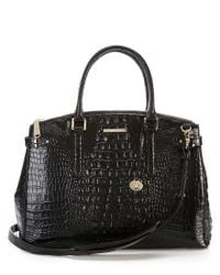 Brahmin - Brown Melbourne Collection Audra Crocodile-embossed Carryall Satchel - Lyst