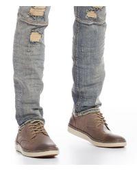 Johnston & Murphy - Gray Men ́s Mcguffey Nubuck Leather Plain-toe Oxfords for Men - Lyst