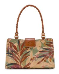Patricia Nash - Brown Palm Leaves Collection Rienzo Satchel - Lyst