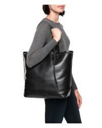 Frye - Black Carson Mono Stud Leather Tote - Lyst