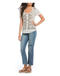 Lucky Brand - Multicolor Allover Print Graphic Tee - Lyst
