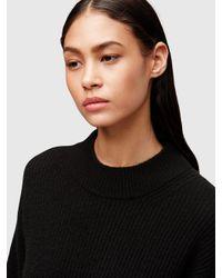 DKNY - Black Cashmere Long Sleeve Dress - Lyst