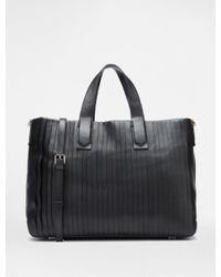 DKNY - Black Large Pleated Tote - Lyst