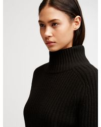 DKNY - Black Cashmere Turtleneck - Lyst