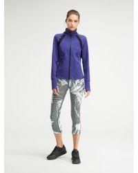 DKNY - Blue Mesh Inset Raglan Jacket - Lyst