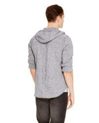 DKNY - Black Jeans Hooded Shirt for Men - Lyst