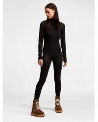 a3f1abd5c9 Lyst - DKNY Body Jersey Turtleneck Bodystocking in Black