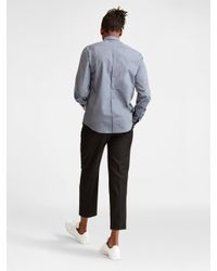 DKNY - Gray Collared Shirt for Men - Lyst