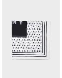 DKNY - Black Logo Square Scarf - Lyst