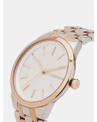 DKNY - Metallic Park Slope Two-tone 3 Hand Watch - Lyst