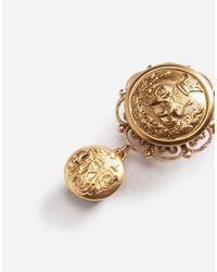 Dolce & Gabbana - Metallic Galvanized Earrings - Lyst